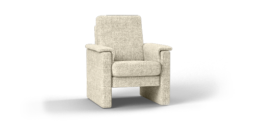 Stoffen fauteuil in crème
