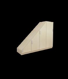 Inbouwkast Voor Schuine Wanden Jouwmaatkastnl